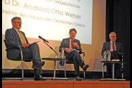 v.l.n.r. Prof. Dr. Christopher Clark, Priv.-Doz. Dr. Andreas Otto Weber, Prof. Dr. Andreas Wirsching